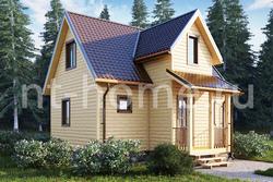 Дом из бруса 6,5х8 ТД22