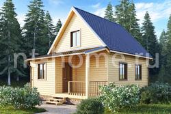 Дом из бруса 6х8 ТД3