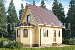 Дом из бруса 6х8 ТД30